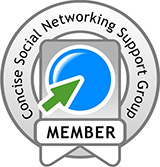 Concise Social Networking Support Group Member Logo
