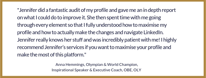Anna Hemmings Testimonial LinkedIn Workshop