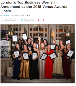 London Post Venus Awards Winners