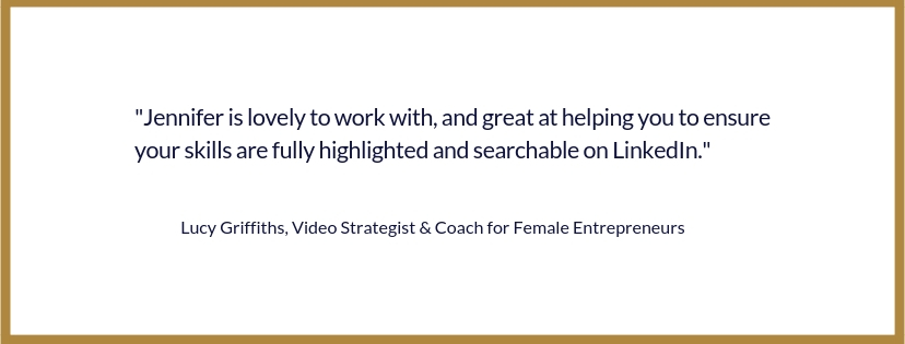Lucy Griffiths Testimonial LinkedIn Strategy Session