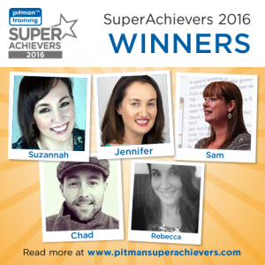 Winner of Pitman Training's Super Achievers 2016