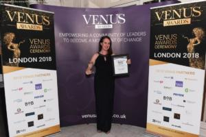 Winner of Social Media Influencer Category at the Venus Awards London 2018